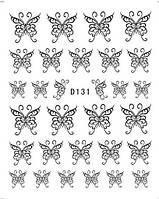 Наклейки для дизайна ногтей БАБОЧКИ (D 131)