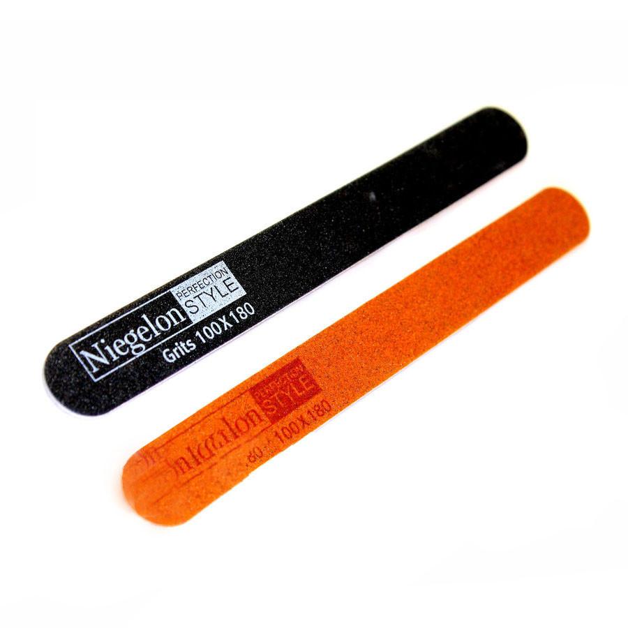 Пилки для ногтей Niegelon 2шт (100/180) 06-0552бл