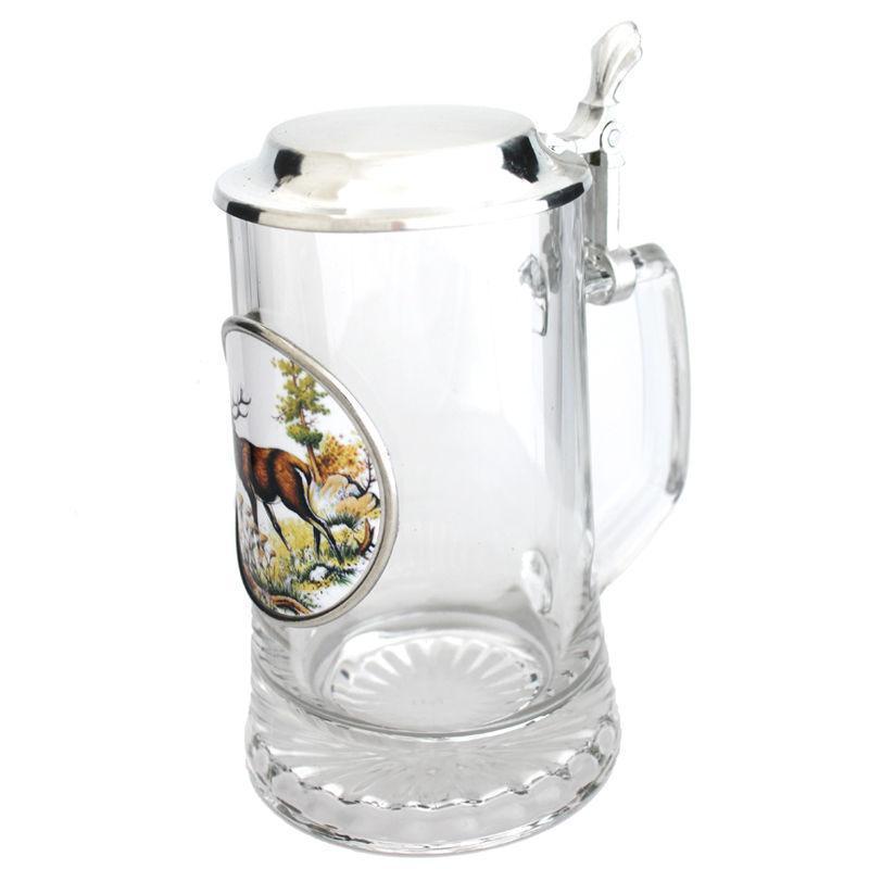 Пивная кружка с крышкой германия пищевое олово «Лось» Artina SKS, 500мл (15869.2a)