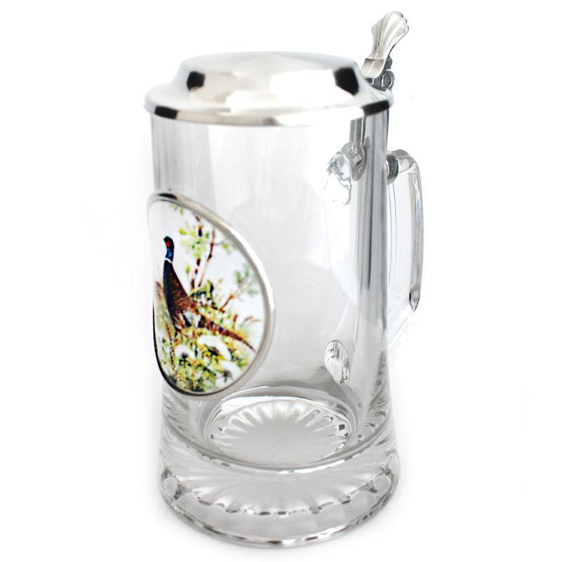 Пивная кружка с крышкой Германия пищевое олово«Фазан» Artina SKS, 500мл (15869.3a)
