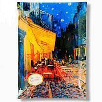 Тарелка стеклянная Ван Гог «Ночная терраса кафе», 28х20 см (198-3001)
