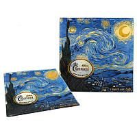 Тарелка стеклянная Ван Гог «Звездная ночь» Carmani, 13х13 см (198-7310)