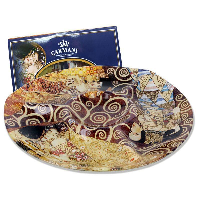 Стеклянная тарелка Г.Климт Carmani, d-29,5 см (198-8061)