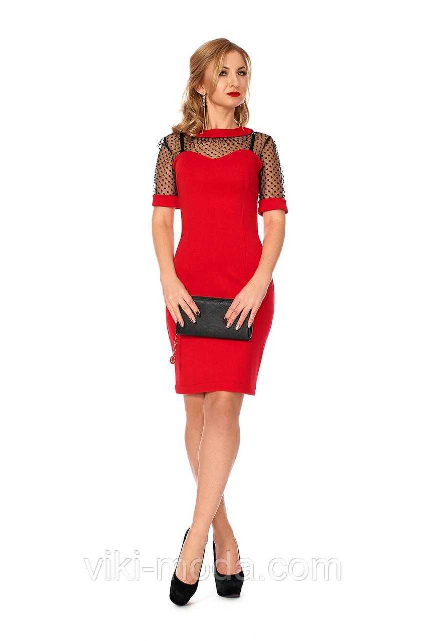 Платье прилегающего силуэта зауженное к низу, цвет красный, р.42, 44, 46, 48, 50
