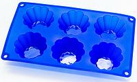 Силиконовая форма для выпечки кексов арт. 822-10-7