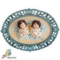 Картина коллекционная фарфоровая Италия «Два ангела» Zampiva, 57х78 см. 96062