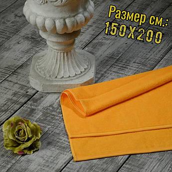 Махровая простынь Узбекистан, пл.:400 гр./м2, 150х200 см., Цвет: Желтый