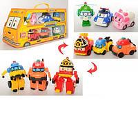 Игровой набор из 6 героев «Робокар Поли» 83168-9 трансформеры