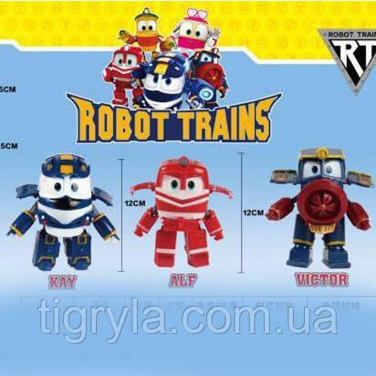 """Игровой набор героев мультфильма Роботы Поезда """"Robot Trains"""" 3 героя в комплекте Кей, Виктор и Альф локотрейн, фото 2"""