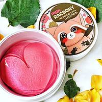 Розовые патчи с енотом для глаз и щек Secret Key Pink Racoony Hydro-gel Eye & Cheek Patch