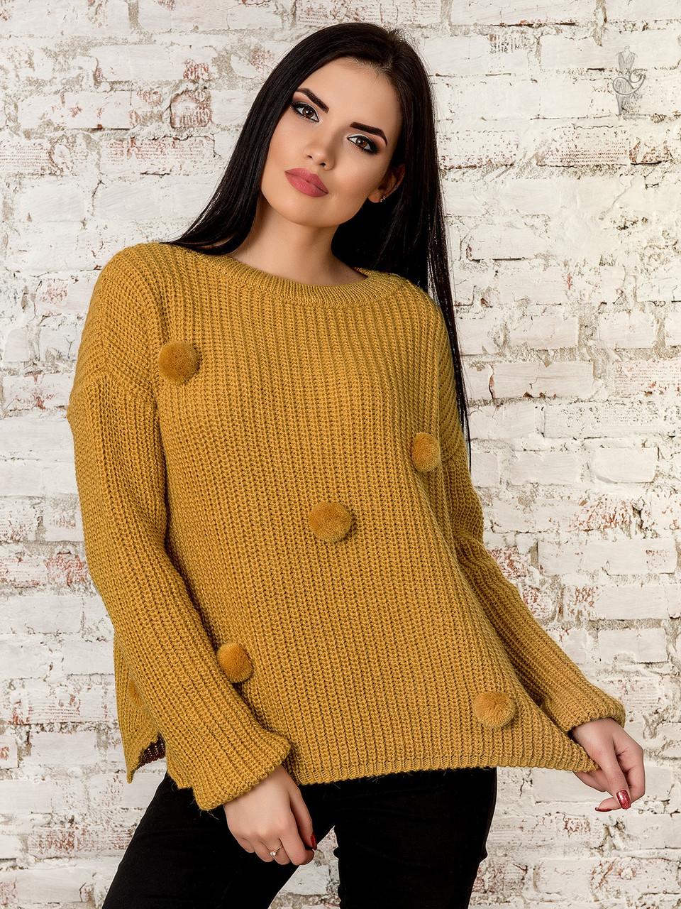 Женский свитер оверсайз Алиса-1 из шерсти и акрила