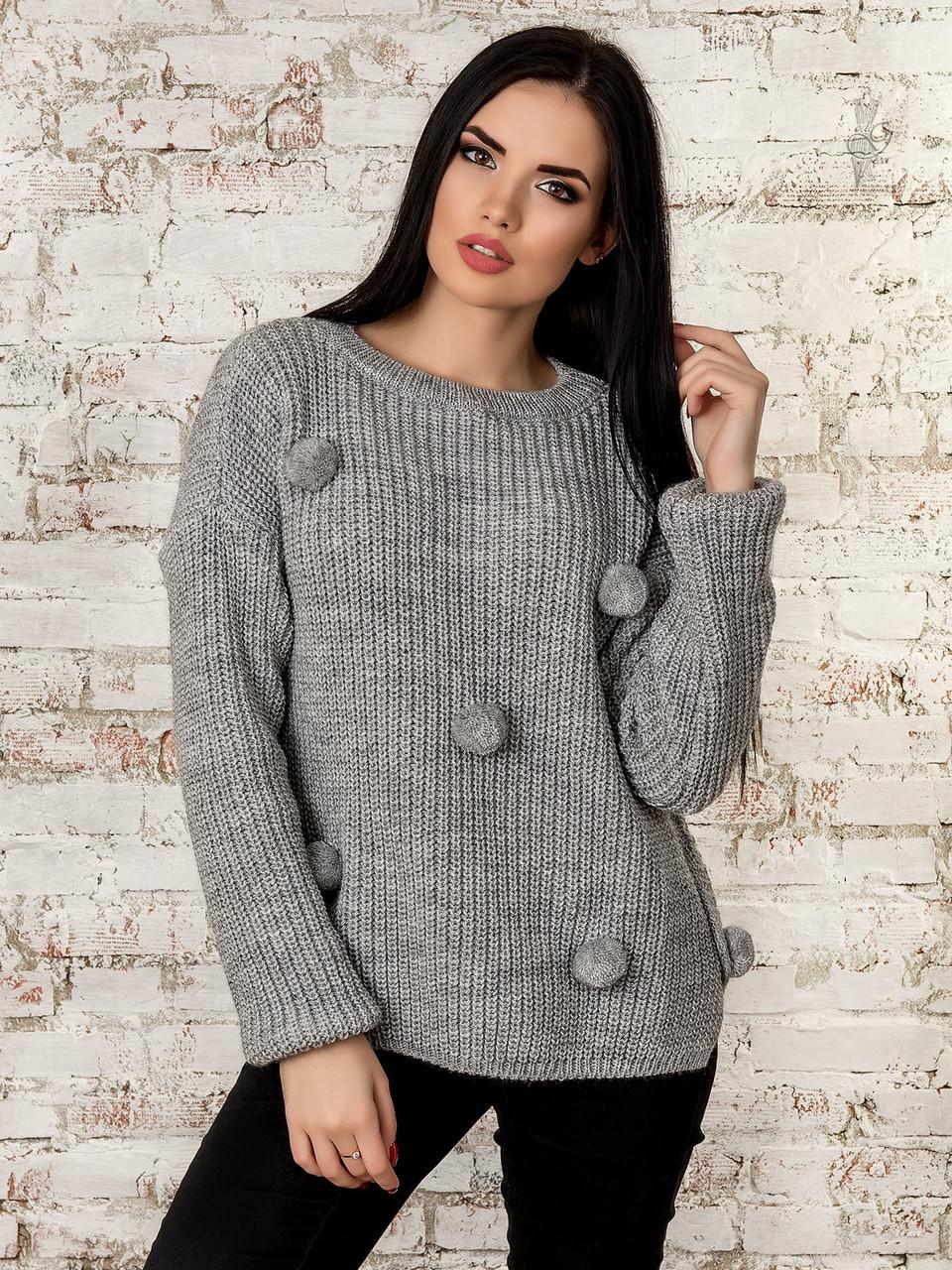 Женский свитер оверсайз Алиса-2 из шерсти и акрила