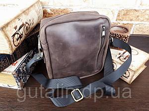 Мужская сумка ручной работы из натуральной кожи Классик цвет коричневый