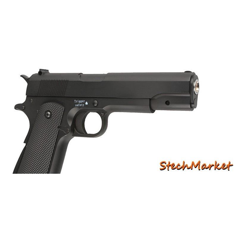 Пистолет металлический ZM 19 (масштабная копия 1:1 кольт 1911-A1)