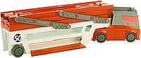 Hot Wheels Трейлер грузовик автовоз хот вилс на 50 машинок оранжевый, фото 1