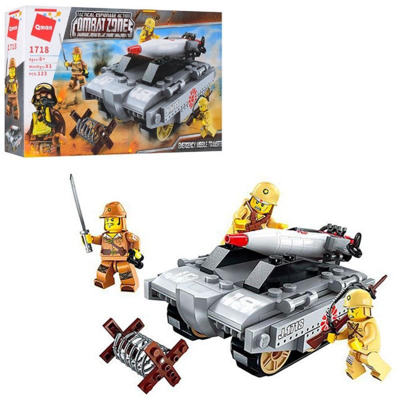 """Конструктор """"Военный танк"""" 1718 Brick 123 деталей"""