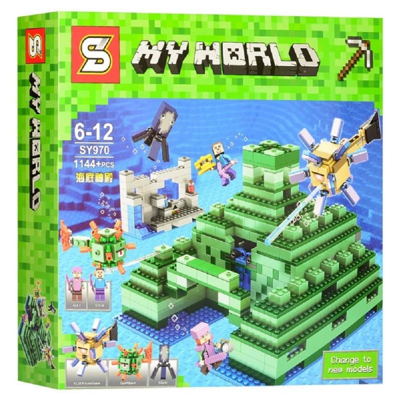 """Конструктор """"Подводная крепость"""" Minecraft My World SY970 1144 детали"""