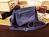 Женская сумка ручной работы из натуральной кожи цвет синий, фото 2