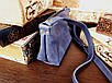 Женская сумка ручной работы из натуральной кожи цвет синий, фото 3