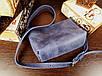 Женская сумка ручной работы из натуральной кожи цвет синий, фото 4