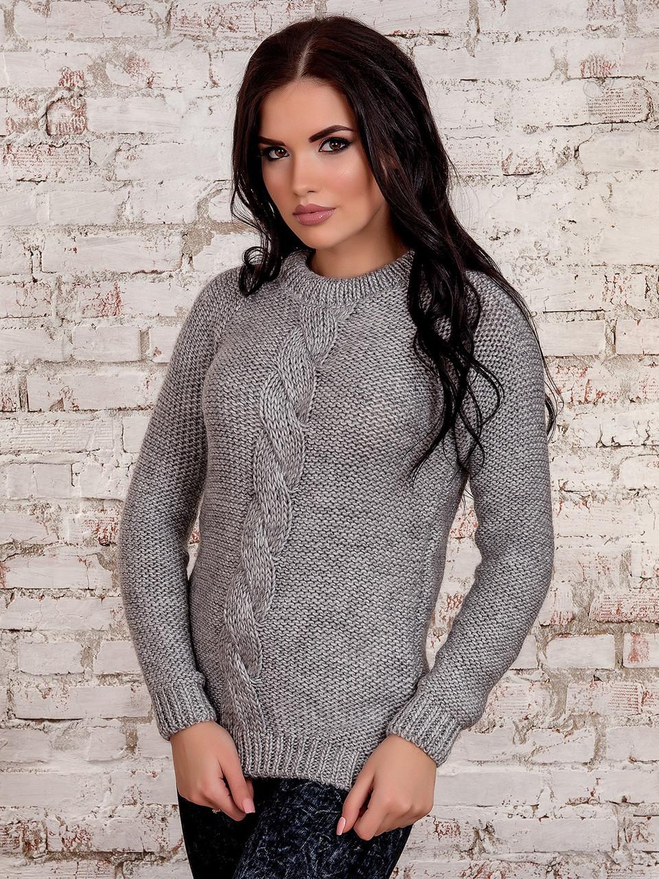 Вязаный женский свитер Мия-4 из шерсти и акрила