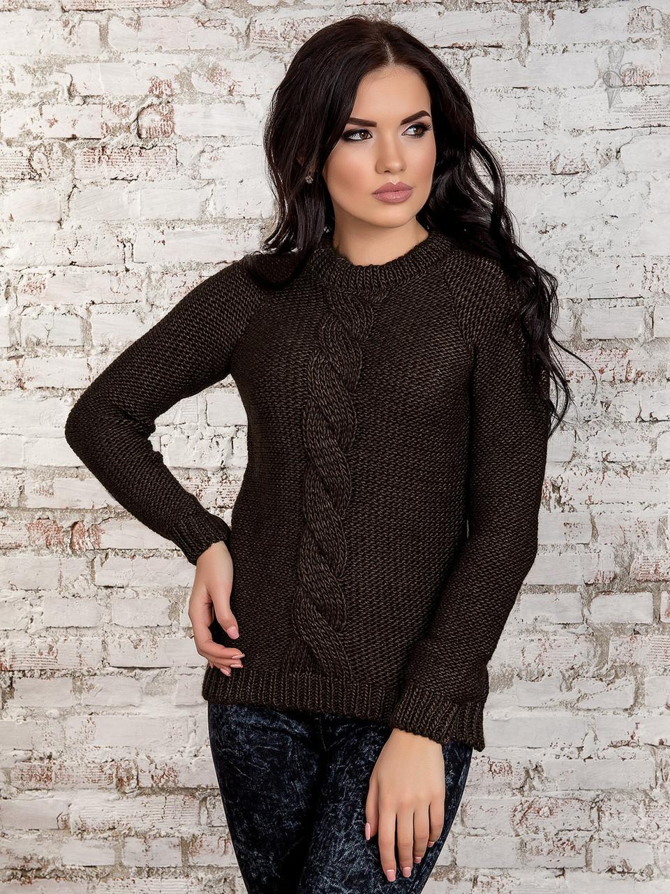 Вязаный женский свитер Мия-5 из шерсти и акрила