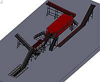 Линия для сортировки ТБО ( мусора ) производительностью 50 тыс. тонн в год
