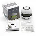 Аромадиффузор, аромалампа, увлажнитель воздуха, ночник c LED подсветкой, черный, голубой, фото 7
