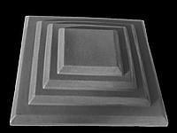 Крышки на кирпичные столбы забора «КАСКАД» 400х400, цвет серый, вес 20 кг.