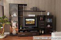 Нео 2 набор для гостиной (Мебель-Сервис)  венге  тёмный2650х588х1820мм