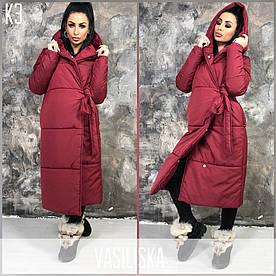 Тёплая удлиненная куртка-одеяло