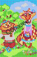 Схема для вышивки бисером «Кот Котофей и Лиса»