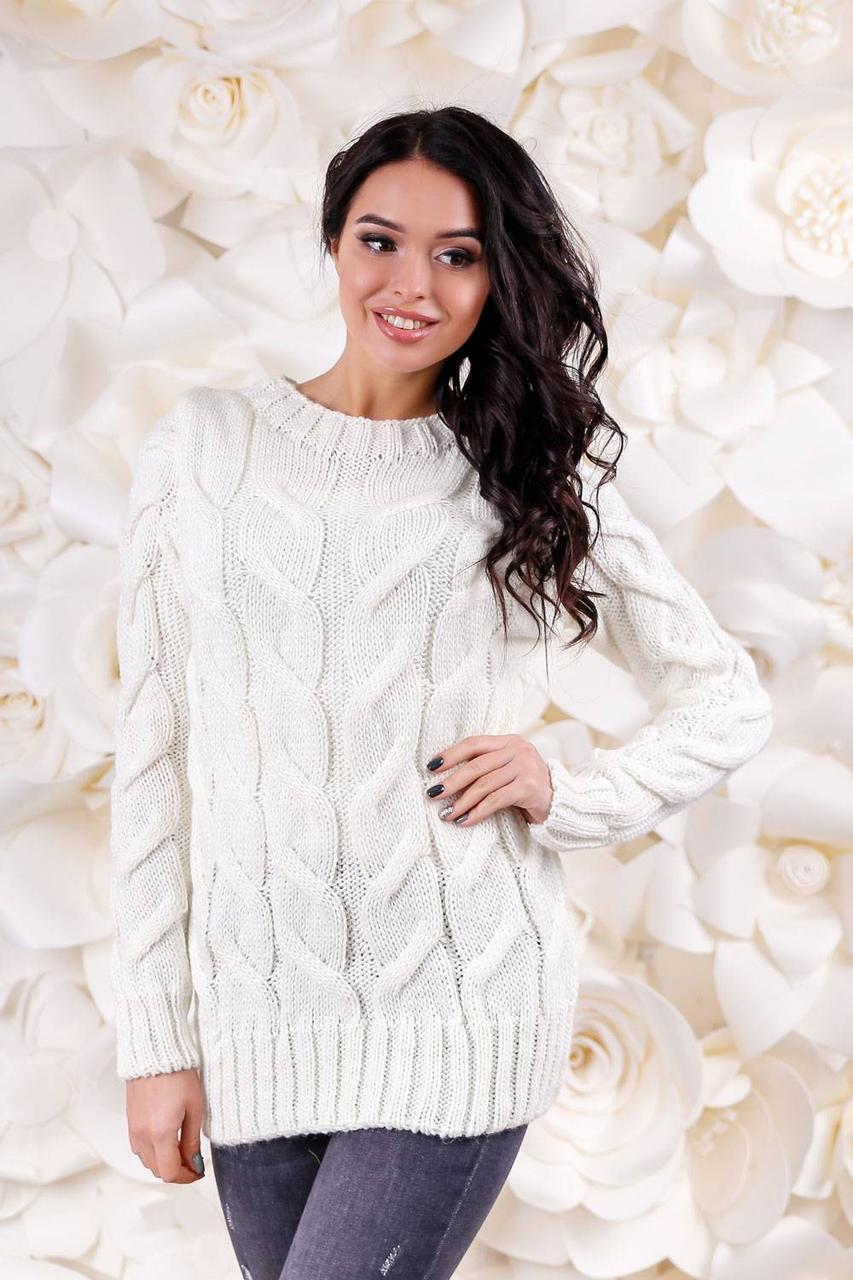 женский вязаный свитер универсальный размер 42 48свитер кофта