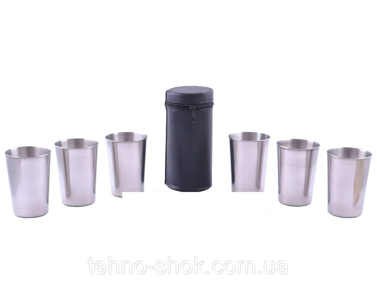 Походные рюмки из нержавеющей стали (6шт,150мл)
