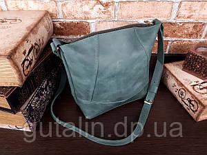 Женская сумка ручной работы из натуральной кожи Comfort цвет зеленый