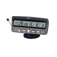 Автомобильные часы с термометр и вольтметром VST 7045 CG10