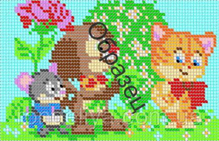 Схема для вышивки бисером «Праздник у Котенка»