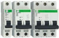 Автоматический выключатель АВ2000 3Р C 4A 6кА