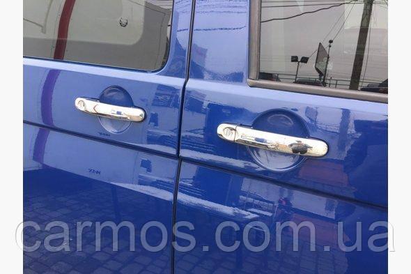 Накладки на ручки Volkswagen T5/ T6 (фольксваген т5 2010+), 3 шт нерж. CARMOS