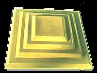 Крышки на кирпичные столбы забора «КАСКАД» 430х310, цвет жёлтый, вес 16 кг.