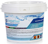 Багатофункціональні таблетки хлору Crystal Pool - хімія для басейну MultiTab 4-in-1 Large – 50кг (табл.200г)