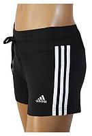 Шорты спортивные женские adidas ESS 3S KT P43717 (черные, для тренировок на фитнес, эластичные, бренд адидас)