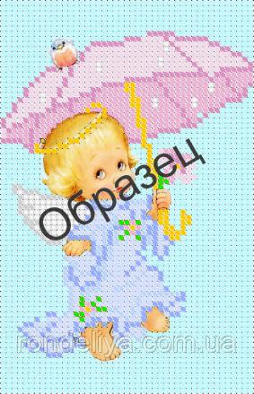 Схема для вышивки бисером «Ангел с зонтиком»