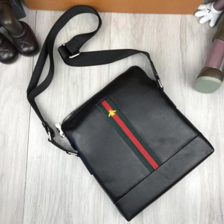 a97c6ce1abeb Кожаная женская сумка-планшетка Gucci черная сумочка планшет унисекс через плечо  кожа Гуччи люкс реплика