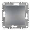 Выключатель одноклавишный Asfora (сталь)
