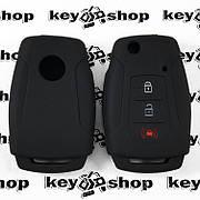 Чохол (чорний, силіконовий) для выкидного ключа SsangYong (СангЕнг) 2 + 1 кнопки