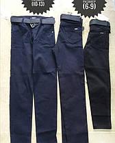 Штаны детские  ( 10 - 13 лет )Темно синие . Ткань стрейчкотон.