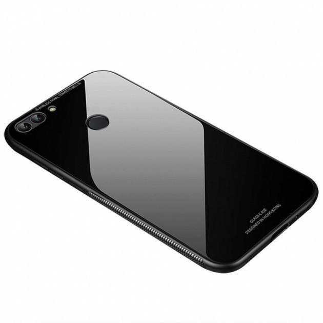 "Накладка Huawei P Smart + ""Glass Case"" Чёрная"