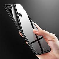 """Накладка Huawei P Smart + """"Glass Case"""" Чёрная, фото 2"""