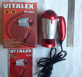 Фен складной (дорожный) VITALEX VT-4001 синий, фото 2